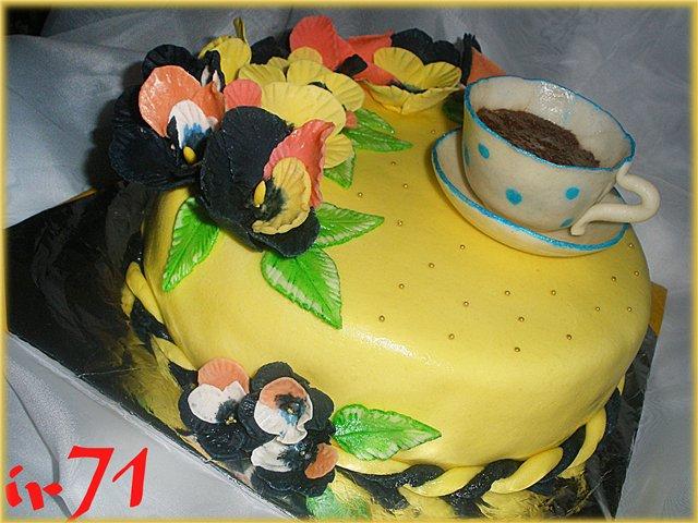 Пошагове фото оформлення дитячого торту