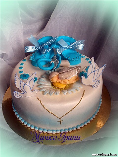Дитячо торти на хрестини фото